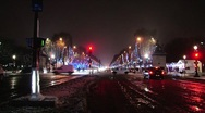 Stock Video Footage of paris champs élysées-elysees covered in snow