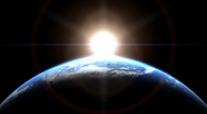 Sunrise in Space Stock Footage