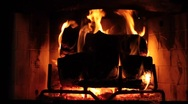 Stock Video Footage of Fireplace1
