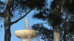 Art Nouveau Fountain, San Francisco, top tier Stock Footage