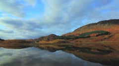 Scottish loch still reflections timelapse Stock Footage