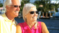 Stock Video Footage of Portrait of Contented Senior Couple in Close -up