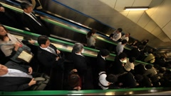 Escalator down Japan Stock Footage