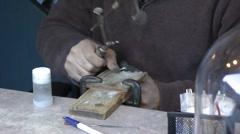 Artisan cutting ring Stock Footage