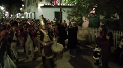 British militia on parade in St. Augustine Stock Footage