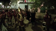 Stock Video Footage of British militia on parade in St. Augustine