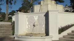 Classic Art Nouveau Fountain in Park Stock Footage