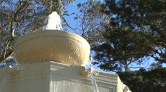 Art Nouveau fountain san francisco Stock Footage