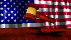 American Justice Gavel - stock footage
