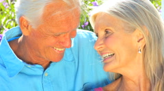 Portrait of Contented Senior Couple in Close -up Stock Footage