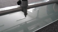Stock Video Footage of cutting a glass