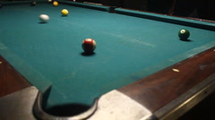 Pool Table In Crowded Bar 04 Stock Footage