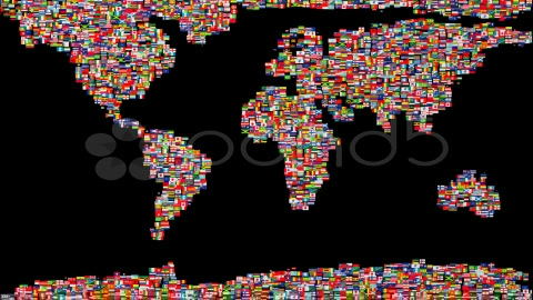 After Effects Project - Pond5 Flags of the World forming Earth map 981624
