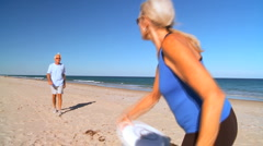 Seniors Healthy Fun Exercise - stock footage