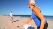 Seniors Healthy Fun Exercise Stock Footage