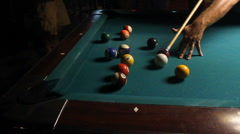 Pool Table In Crowded Bar 05 Stock Footage