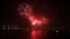 Spectacular festival fireworks Display  Stock Footage