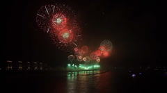 Spectacular festival fireworks Display 2 Stock Footage