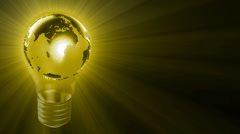 Stock Video Footage of Yellow Globe Bulb