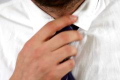 Stock Video Footage of Loosening up necktie
