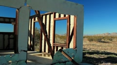 ABANDONED HOUSE IN DESERT 2 Stock Footage