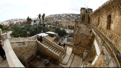Landscape of Hebron from the Cave of the Machpelah Stock Footage