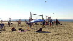 Beach Volleyball 3 Stock Footage