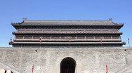 Tower of Xian City Wall  Stock Footage