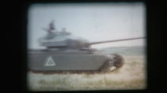 Vintage 8mm film, military, Centurion main battle tank on the move again, 1950s Stock Footage
