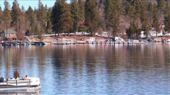 LakeArrowhead fishing-19 Stock Footage