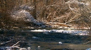Winter River Landscape  Stock Footage