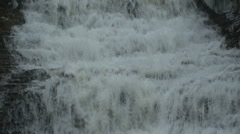 Waterfall during winter - stock footage