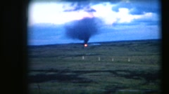Vintage 8mm film, military, firepower demo machine guns and mortars Stock Footage