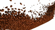 Stock Video Footage of Coffee beans flow with slow motion