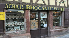 French traditional shop Stock Footage