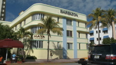 Barbizon Hotel on South Beach Stock Footage