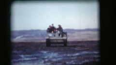 Vintage 8mm film, military, Bren gun (universal) carrier in the mud, 1950s Stock Footage