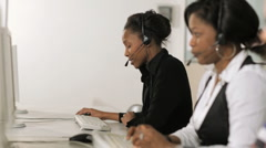 Multi-ethnic group of women at work Stock Footage