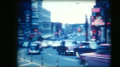 Vintage 8mm film, Ottawa Rideau Street looking east, early 1960s Stock Footage
