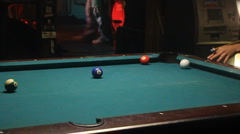 Pool Table In Crowded Bar 01 Stock Footage