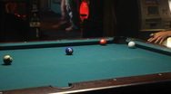 Stock Video Footage of Pool Table In Crowded Bar 01