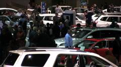 LA Auto Show 2010 - stock footage