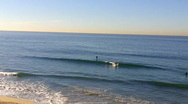 Huntington Beach Small Wave Surfing 1 Stock Footage