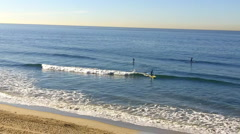 Huntington Beach Small Wave Surfing 2 Stock Footage