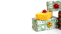 Stack of presents, dolly shot  - stock footage