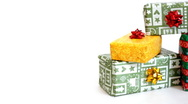 Stack of presents, dolly shot  Stock Footage
