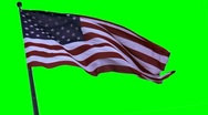 USA flag on a greenscreen Stock Footage