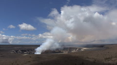 Hawaii Kilauea Caldera eruption - stock footage