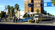 Los Angeles Metro Rail Commuter Train 1 Stock Footage