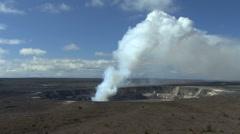 Kilauea eruption column in Hawaii Stock Footage